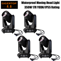 Discount Price 4 Pack 500W High Power Waterproof IP55 Stage Moving Head Light Outdoor Using MSD