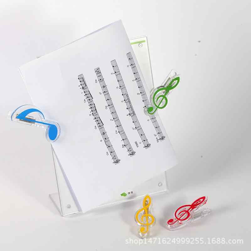 1PC Libro Musicale Nota Clip di Plastica di Musica per Pianoforte di Pagina del Libro Della Clip di Violino di Musica Della Clip Accessori