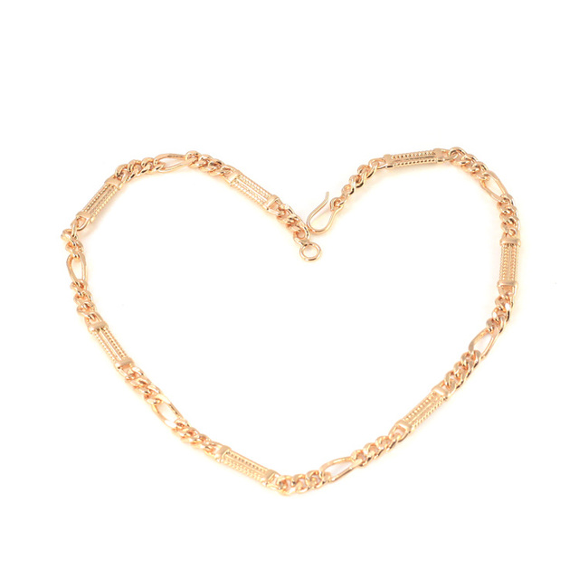 Cute Kids Necklace Gold Chain Teen Boy Baby Jewelry Collar