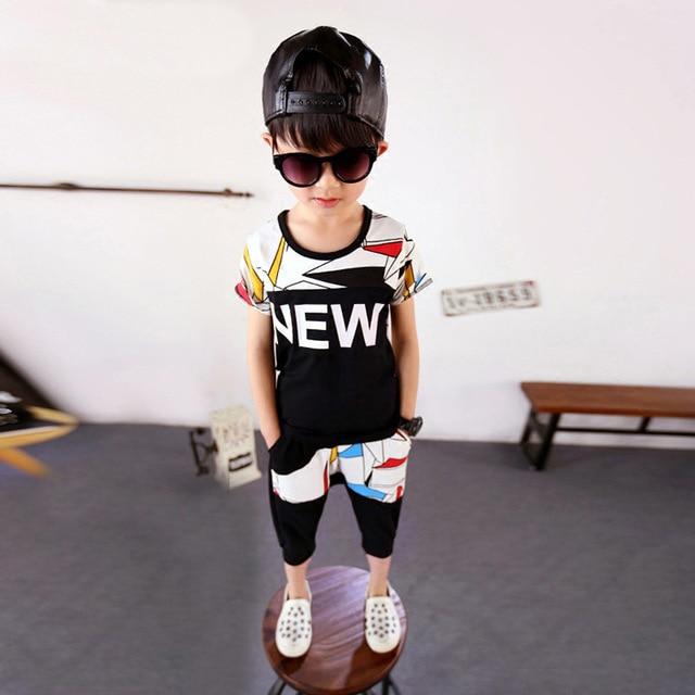 Children's Garment Summer Wear Suit New Pattern Children Athletic Wear Boys 2 Pieces Kids Clothing Sets