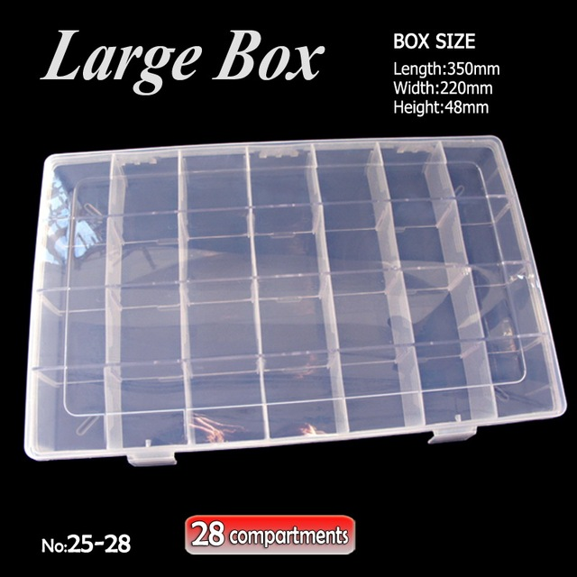LARGE Box Storage 28 compartments with removable dividers for DIY