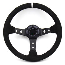 330mm 13 inch Zwart Suède Deep Dish Drifting Sport Racing Stuurwiel(China)