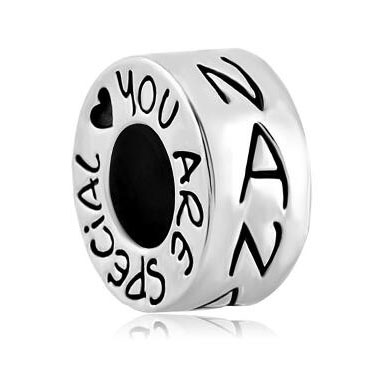 Fit Pandora charm bracelets Nana Heart You Are Special Charm Bracelet Spacer European Bead Beads for jewelry making