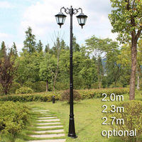 European American style landscape lighting garden outdoor post light with rod vintage road lamp street light