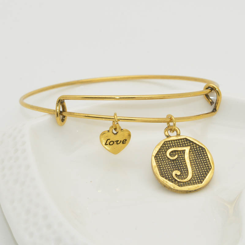 gold letter z charms bracelet