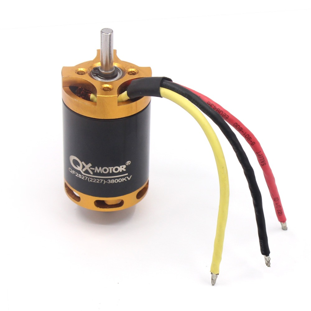 QF2827 3800KV Brushless Motor 80A for 70mm Fan 6 paddle EDF Unit RC Airplanes QX-Motor
