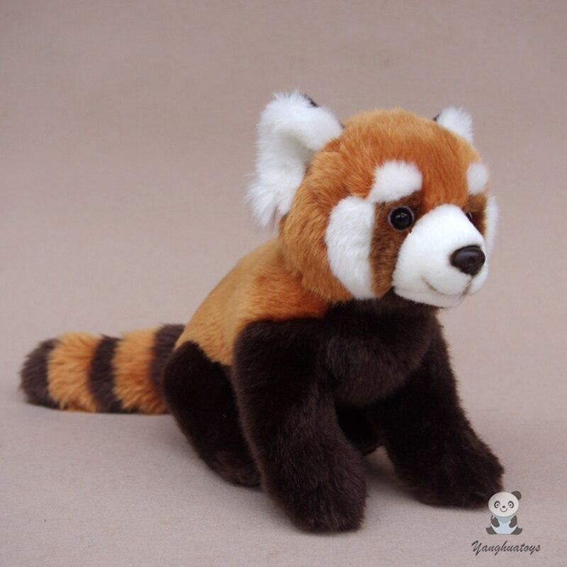 키즈 완구 봉제 팬더 인형 귀여운 빨강 팬더 리얼 라이프 동물 너구리 인형 기념일 선물