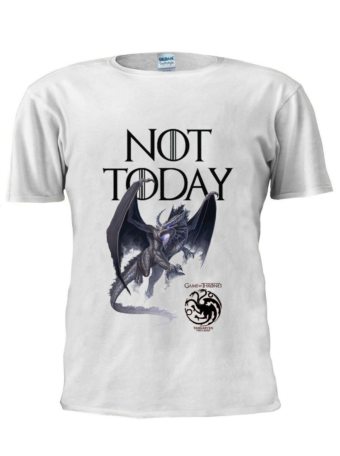 T-Shirt Game OF Thrones Arya Stark pas aujourd'hui hommes femmes unisexe T-Shirt M211 100% coton T-Shirt 2019 chaud t-shirts hauts en gros T-Shirt
