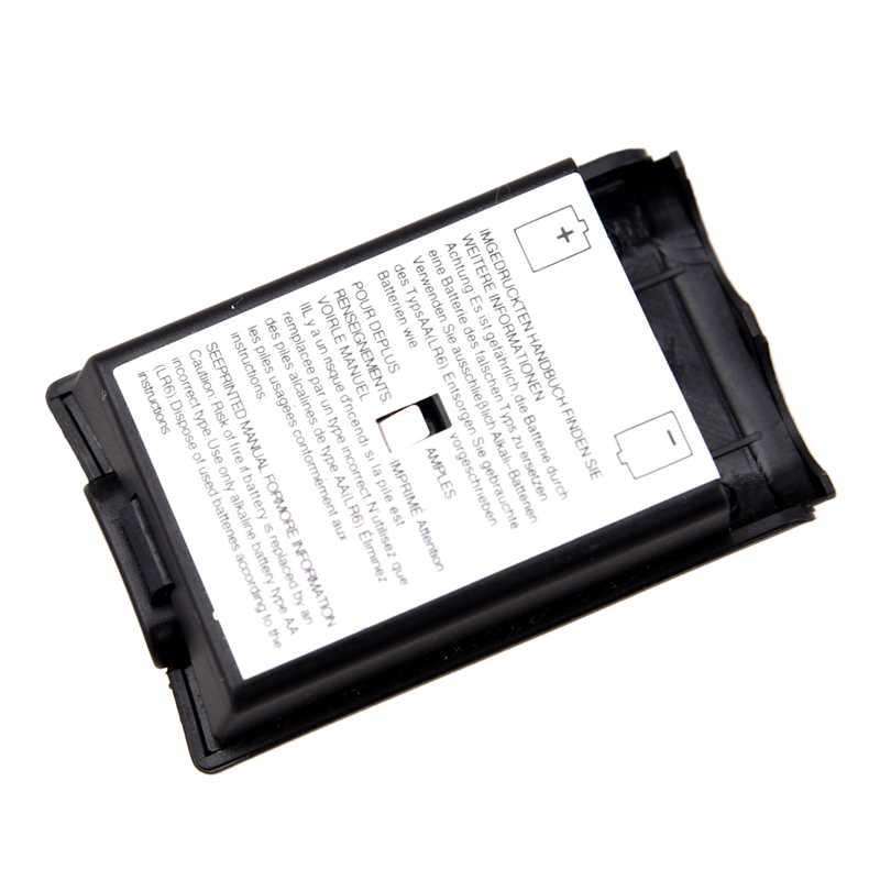 Parte posterior de la carcasa de la cubierta de la batería para Xbox 360 controlador inalámbrico negro