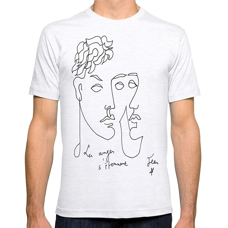 Awesome Tees MenS Crew Neck Novelty Short Jean Cocteau Homme Tees