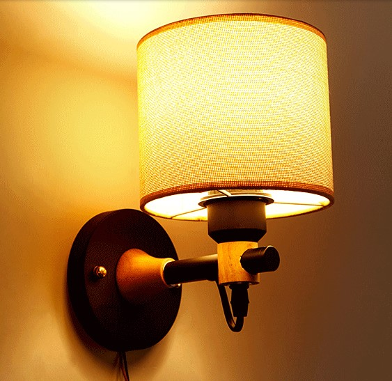 Nordic Wooden LED Vintage Wall Lamp Lights Fixtures Bedroom Home Lighting LED Wall Sconce Arandela Apliques Pared Aplik intex бассейн с навесом морская черепашка intex