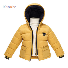 Children font b Boy b font Winter Jackets 2016 New Russia Baby Girl Snowsuit Down Fake
