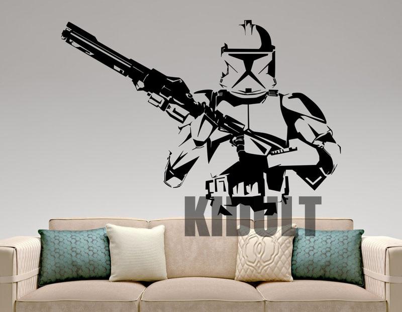 Stormtrooper Star Wars Wall Stickers Cartoon Wall Decals ...
