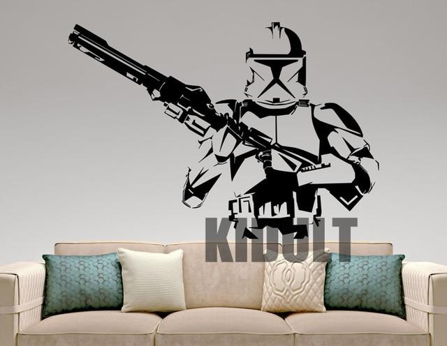 Beautiful Stormtrooper Star Wars Wall Stickers Cartoon Wall Decals Vinyl Decorative  Wall Painting Home Bedroom Childrenu0027s Room