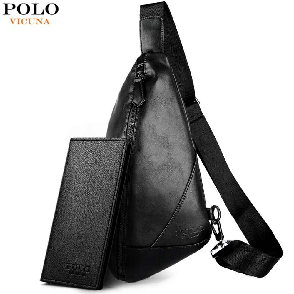 f056f06bb607 VICUNA POLO Brand Stereoscopic Men s Crossbody Bag Leather Casual Man Sling  Bag Travel High Quality Fashion