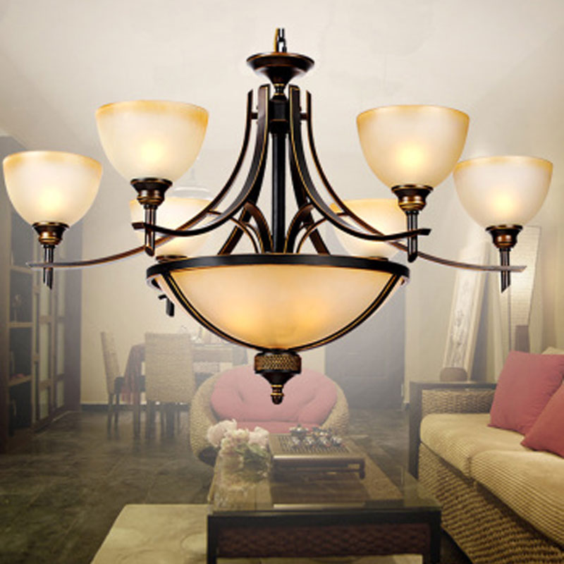 A1 American shipping retro Iron Chandelier Lamp rural living room lights restaurant bedroom LED high-end lamps korean princess wrought lamp iron bedroom led lamp american pastoral style living room children chandelier