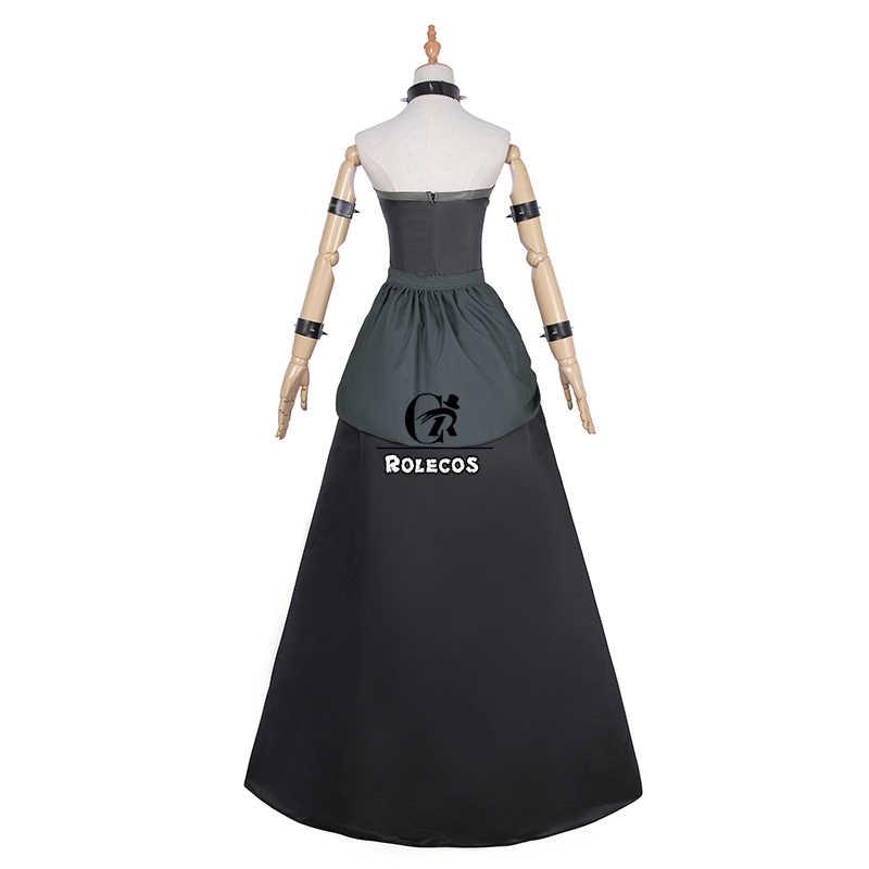 Rolecos аниме Bowsette Косплей Костюм Kuppa Koopa Hime платье принцессы косплей сексуальный комбинезон Черное женское платье для вечерние
