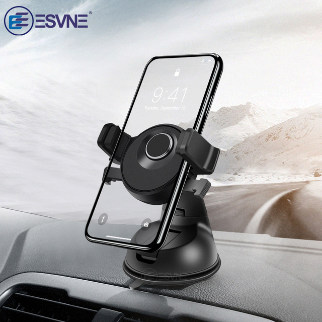 ESVNE Universal Car Phone Holder for iPhone X 8 7 6 Dashboard Windshield Mount Mobile Phone in Car Holder Stand Support cellular