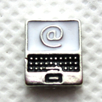 Hot selling 20pcs/lot computer floating charms living glass memory floating lockets wholesale diy jewelry