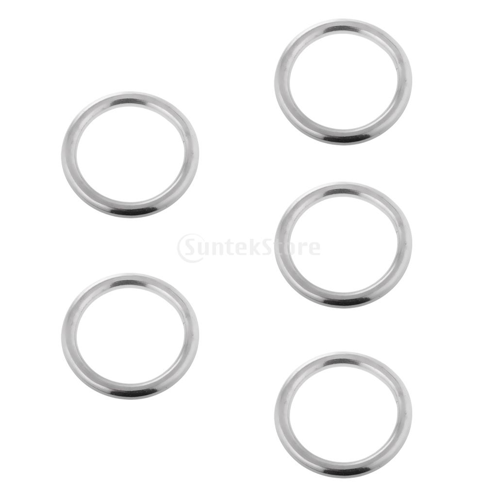 304 Stainless Steel Precision Polished Welded O Ring for Hammock Swing Yoga