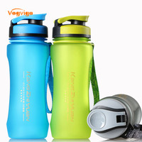 VOGVIGO 600ML Sport Bicycle Plastic Water Bottles With Cover Lip Filter BPA Free Leak Proof Seal