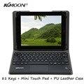 Ultra Slim 81 Teclas Bluetooth Tableta Teclado con TouchPad + Magnética plegable PU Funda de piel para 9.7-10.1 pulgadas Tablet