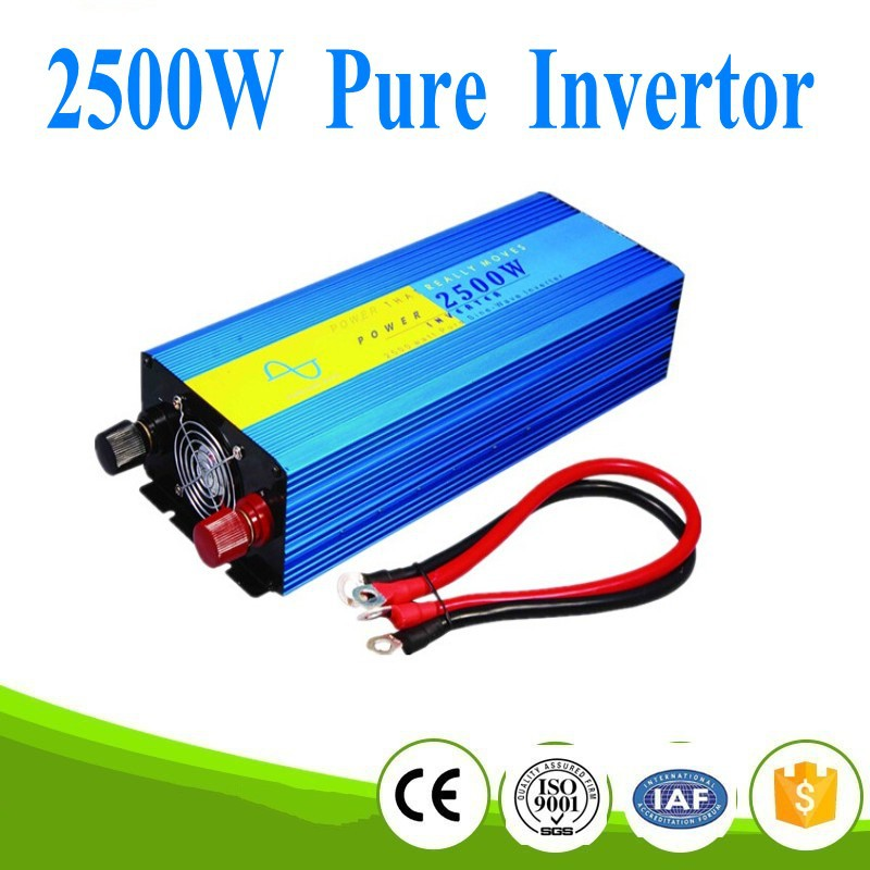 цена на Aliexpress power inverter 2500w pure sine wave power inverter 12v 220v dc ac 2500W ren sinus inverter 12v 220v dc ac