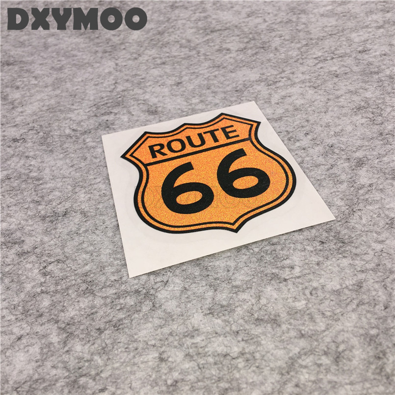 2pcs united states highway car vinyl stickers route 66 oil tank window motorcycle decal bumpers 6 7x7 4cm in car stickers from automobiles motorcycles on