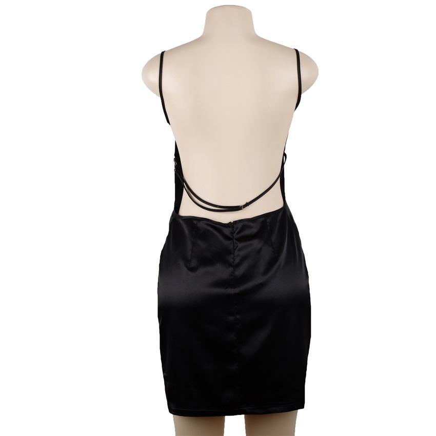 HTB1LrOkPVXXXXbkXXXXq6xXFXXXD - FREE SHIPPING Women Sexy Strapless Backless Satin Summer Dress JKP275