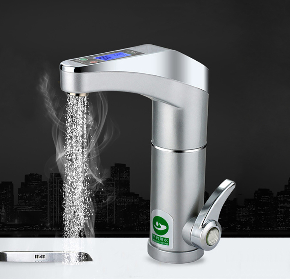 Intelligent automatic LCD display Instant electric water heating Faucet  instantaneous instant tankless water heater hot tapIntelligent automatic LCD display Instant electric water heating Faucet  instantaneous instant tankless water heater hot tap