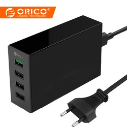 ORICO 4/5 Port QC2.0 quick charge 2.0 Smart Desktop mobile phone USB Charger Universal Fast Charger for Samsung iPhone x 8 plus