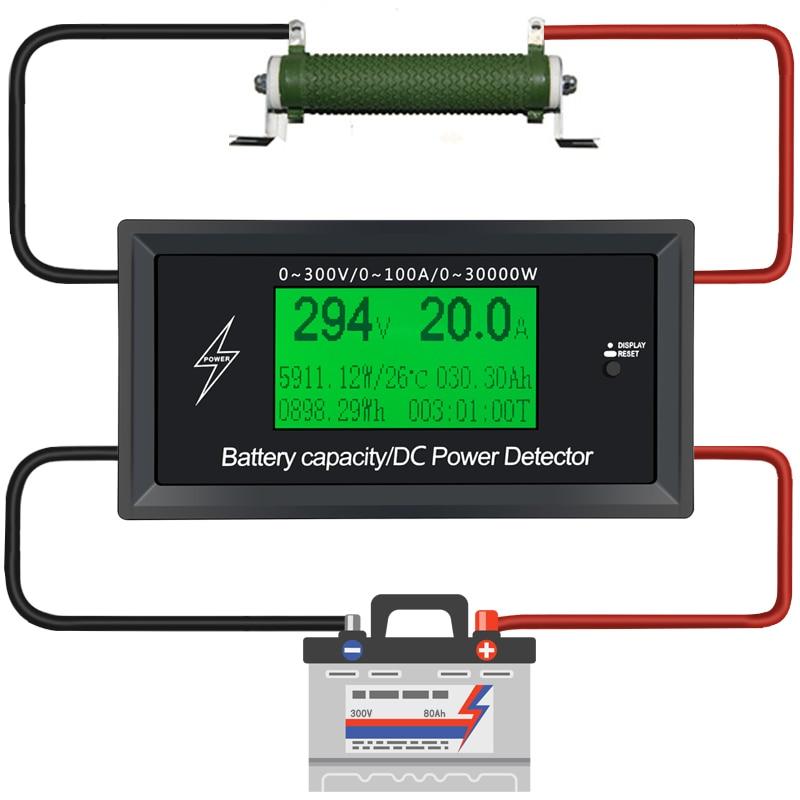 Courant d'alimentation Mètres numérique DC voltmètre ampèremètre voltmètre Batterie Testeurs capacité volts en courant wattmètre détecteur