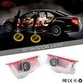 2 x Porta de Carro Bem-vindo Luz LED Emblema Logotipo Projetor Laser Para Mercedes Benz W176 W205 W212 Coupe C204 C A B E ML GL Classe AMG