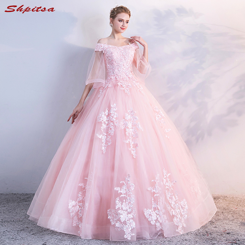 Pink Lace Mother Of The Bride Dresses For Weddings Ball Gown Sexy Evening Gowns Groom Godmother Quinceanera Dresses