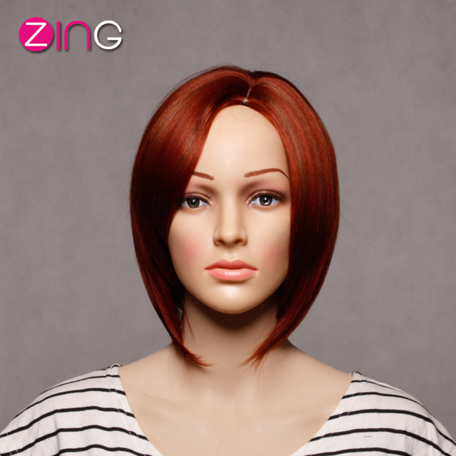 Cheap Good Quality Wigs Perruque Synthetic Women Red And Brown Bright  Colored Wigs Fashion Idol Hair Cheap Hair Wig Female Wigs c310e599deb8