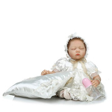 22 inch 55cm Lifelike Doll Reborn Babies For Child Toys Cute Close Eyes Silicone Reborn Baby Dolls Sleeping Doll For Baby Girl