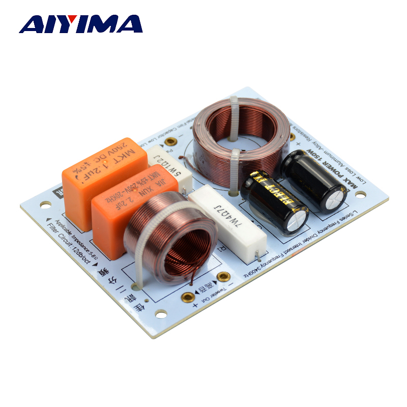 AIYIMA 2 Pcs Bass Treble 2 Way Crossover Audio Papan Demam Speaker Frekuensi Divider Crossover Filter Untuk KASUN Home Theater