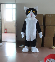 Black and White Cat Mascot Costume Cartoon Character Adult Size Theme Carnival Fancy Dress Costumes Holiday special clothing