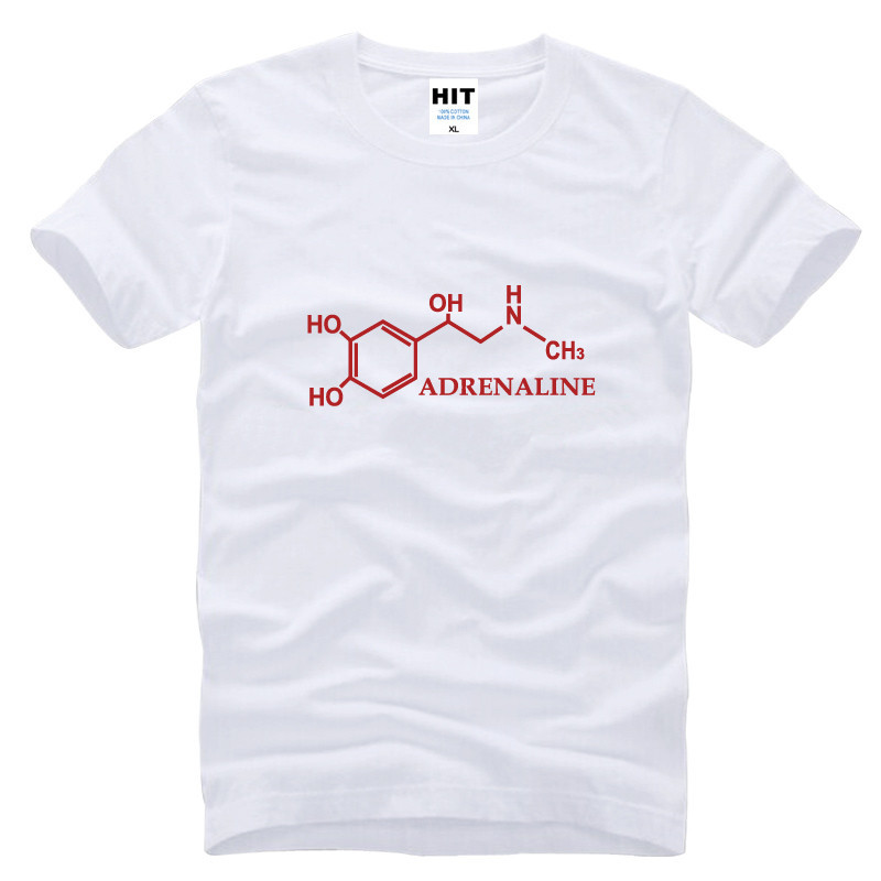 The Big Bang Theory Sheldon Adrenaline Molecule Printed Mens Men T Shirt T-shirt 2015 New Cotton Tshirt Tee Camisetas Masculina