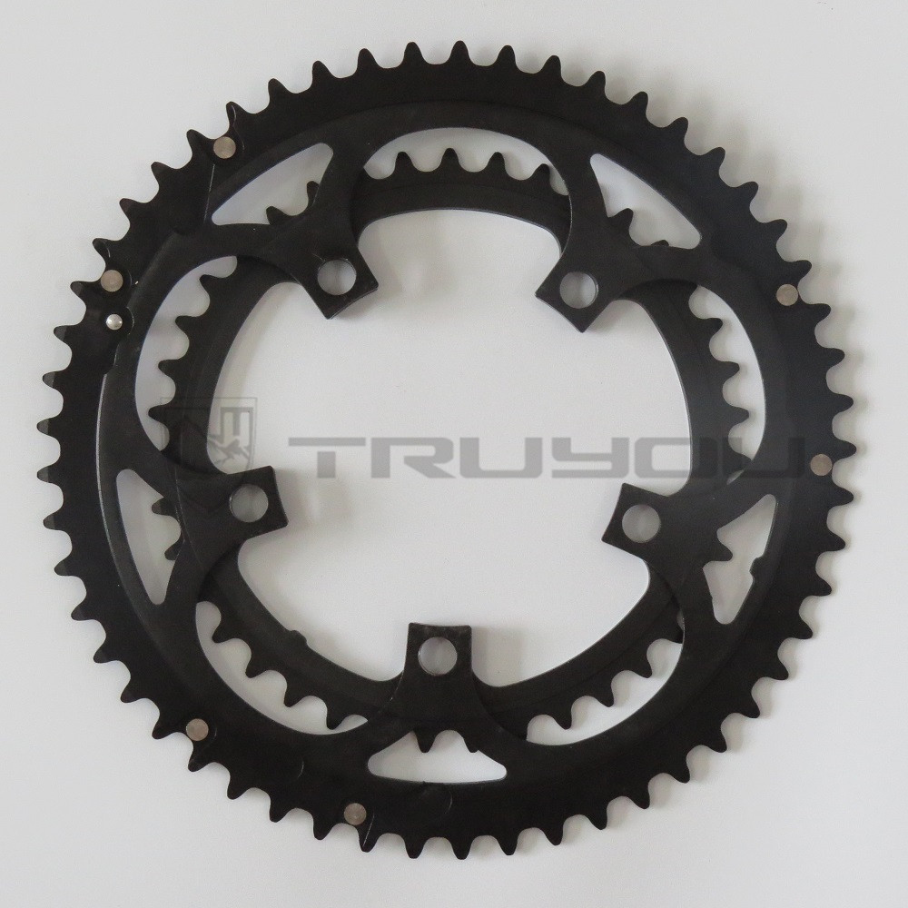 Image 5 - TRUYOU Road Bicycle Chain Wheel BCD 110 53T 39T Double Disc Black Chainwheel Folding Bike Chainring Alloy 2*7/8/9 speed CNC 3/32-in Bicycle Crank & Chainwheel from Sports & Entertainment