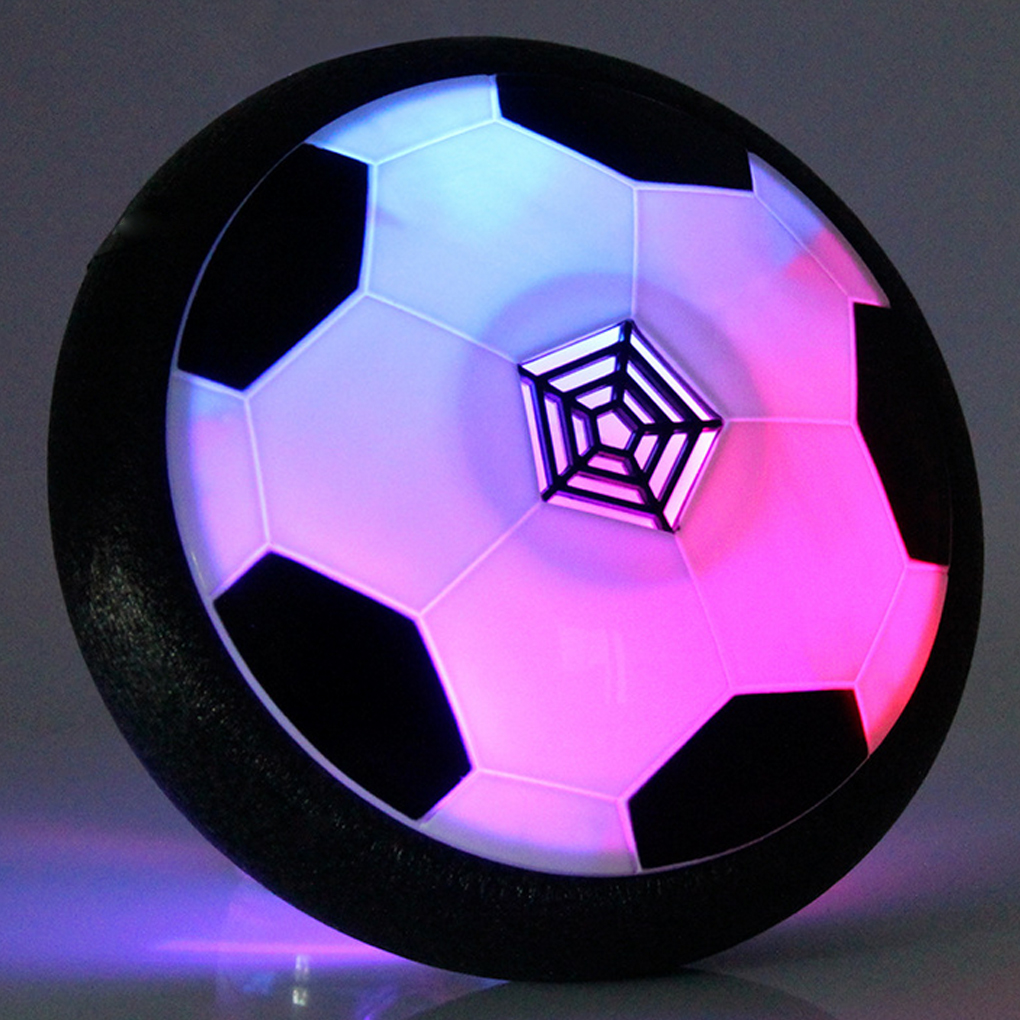 Kids Sports Ball Air Power Soccer Disk Game Bright Light Electric Suspension Football Toy for Children LED Light Flashing Ball