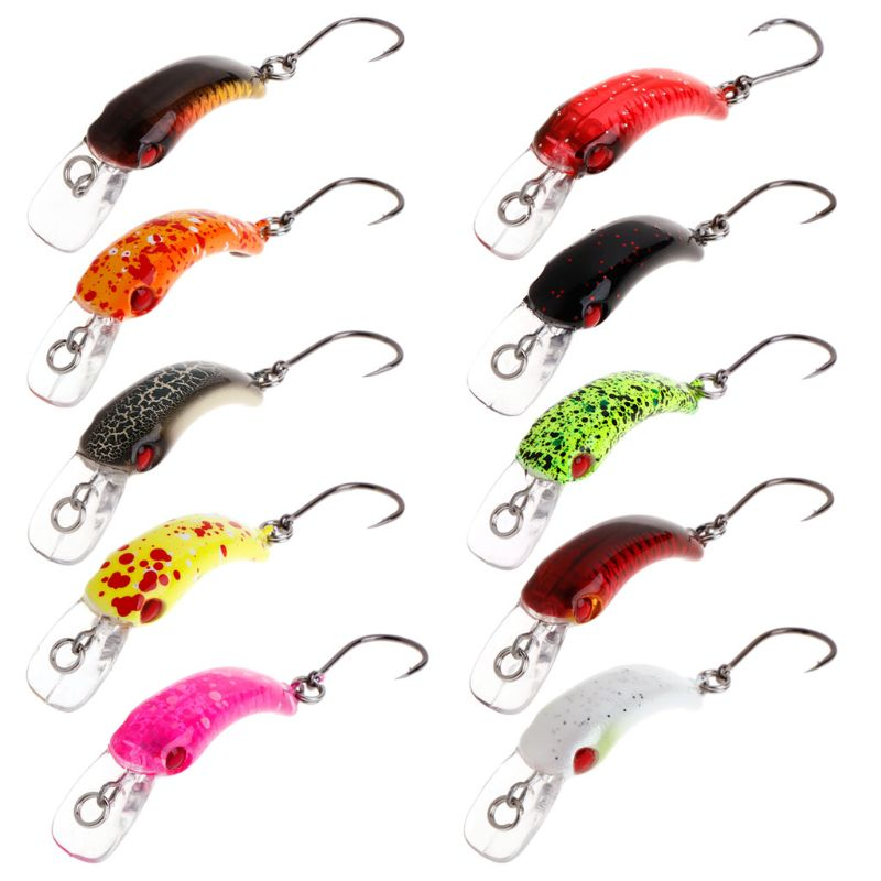 New Fishing Bait Mini Minnow 3.7cm 1.5g Artificial Hard Lure Sharp Hook Crankbait Wobbler Tackle Trout Freshwater Accessories