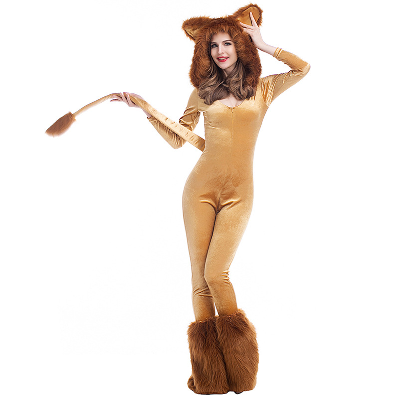 Fancy Wizard of Oz Movie Role Jumpsuits 2017 New Deluxe Lion Costume Adult Animal Halloween Cosplay Costumes