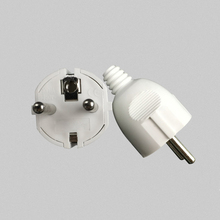 цена на EU Plug  AC Power Adapter Socket 16A 250V Connector Cable Electrical Plug White  Male Converter Adaptor Detachable Plug