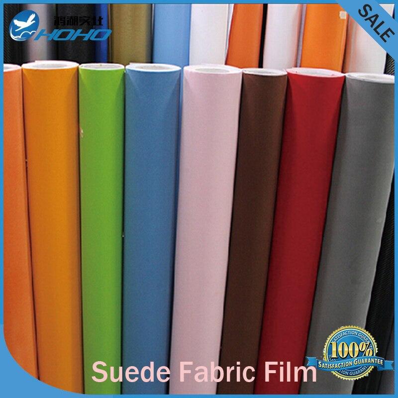 Real suede fabric material car bike wrapping alcantara velvet vinyl film 4 sizes