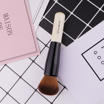 Powder Makeup Brush Wood Handle Dense Soft Round Bristle Full Coverage Face Powder Brushes Blush Contour Brush Make up Tool 2