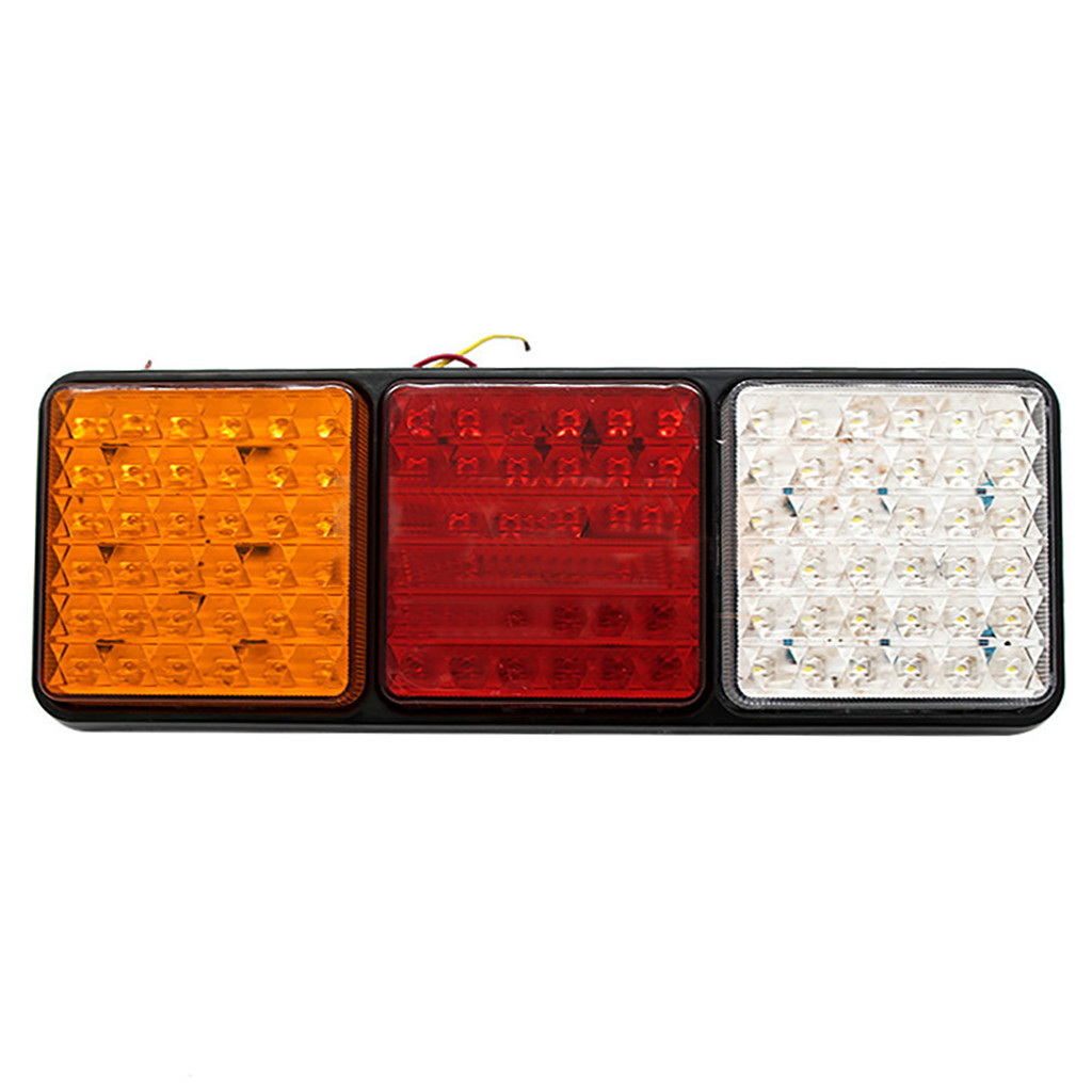 Image 2 - Rectangular Tail Light 2X 24V 108 LED Tail Light Truck Trailer Rear Indicator Stop Reverse Signal Lamp For Campers Buses Vans-in Signal Lamp from Automobiles & Motorcycles