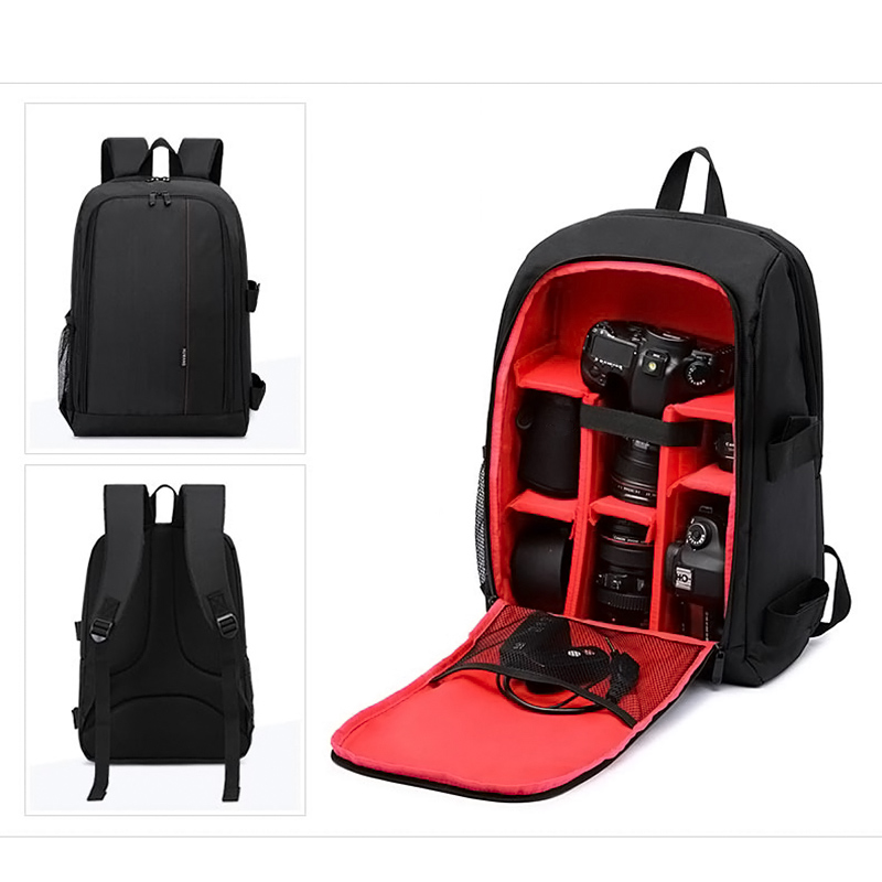 Fashion <font><b>Photography</b></font> Backpack Cameras Bags Waterproof Nylon Bag Clibing Travel Package For Nikon Canon Camera LBY2017