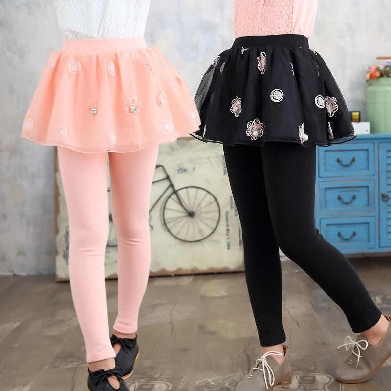 2018 สาวใหม่กางเกง Culottes เอวอีสเตอร์ bloomers เด็กวัยหัดเดิน tracksuits การพักผ่อนหย่อนใจเด็กกางเกงเด็กวัยรุ่นเสื้อผ้าดอกไม้
