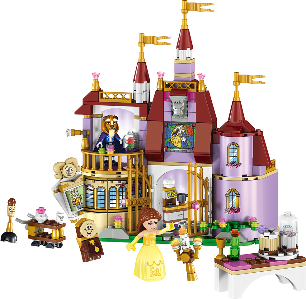 37001 Girl Friends Beauty and The Beast Princess Belle's Enchanted Castle Compatible with Legoed Building Blocks Toys For Girls the girl with the wrong name